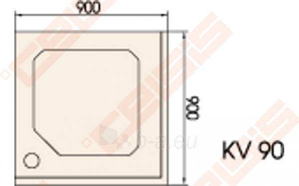 Dušo padėklas PAA CLASSIC 90x90 su panele ir kojelėmis, baltas Paveikslėlis 2 iš 2 270780000303