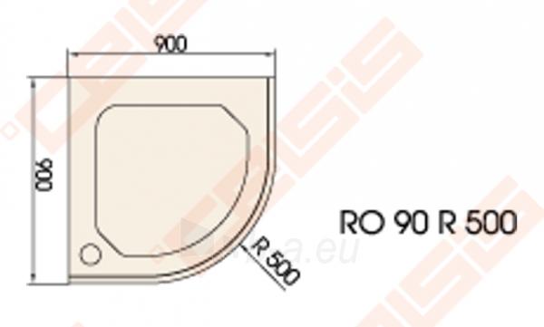 Dušo padėklas PAA CLASSIC 90x90 su panele ir kojelėmis, pilkas (radius 500) Paveikslėlis 2 iš 2 270780000299
