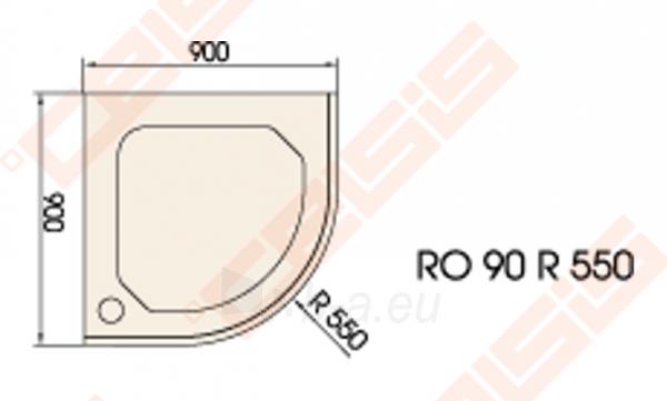 Dušo padėklas PAA CLASSIC 90x90 su panele ir kojelėmis, pilkas (radius 550) Paveikslėlis 2 iš 2 270780000298