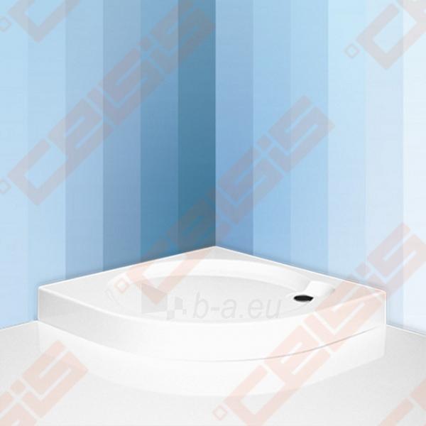 Dušo padėklas SANIPRO Dream-P 80x80 cm, iš supresuotų sluoksnių su GREENSIR laikikliu (radius 550) Paveikslėlis 1 iš 5 270780000499