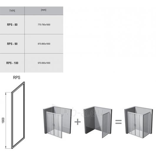 Dušo stacionari sienelė Rapier RPS 800x1900 Paveikslėlis 2 iš 2 270730001103