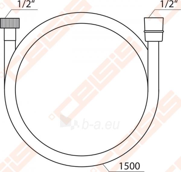 Dušo žarna SatinFlex RAVAK 913.00, 150 cm Paveikslėlis 2 iš 2 270717001059