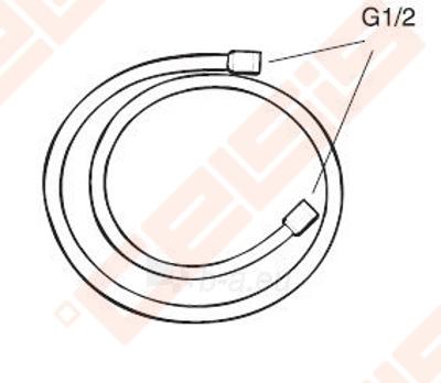 Dušo žarnelė GUSTAVSBERG 1,75 m, chromuota Paveikslėlis 1 iš 1 270717001061