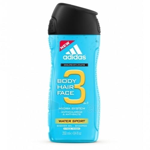 Dušas želeja Adidas 3in1 Water Sport 250ml Paveikslėlis 1 iš 1 2508950000675
