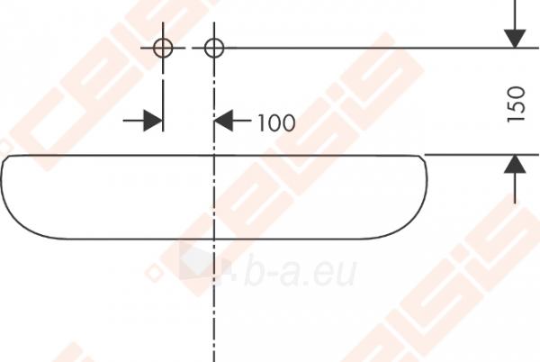 Dviejų dalių praustuvo maišytuvas HANSGROHE Metris S iš sienos 165 mm Paveikslėlis 4 iš 4 270722000651