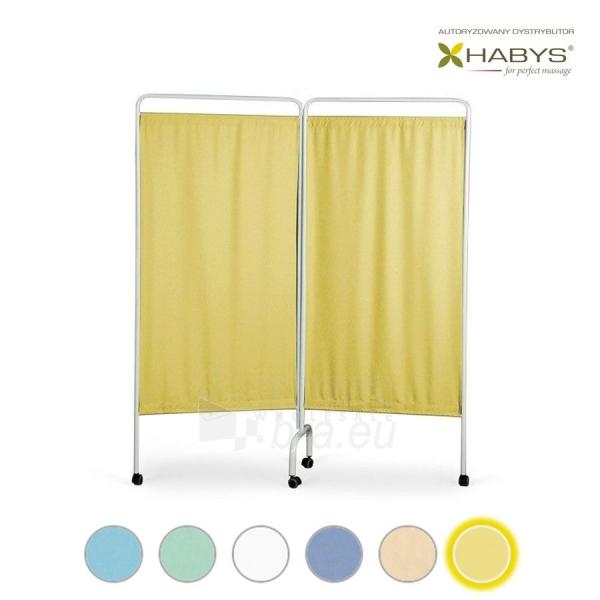 Dviejų dalių širma HABYS Parawan Standard II Yellow Paveikslėlis 1 iš 1 310820205705