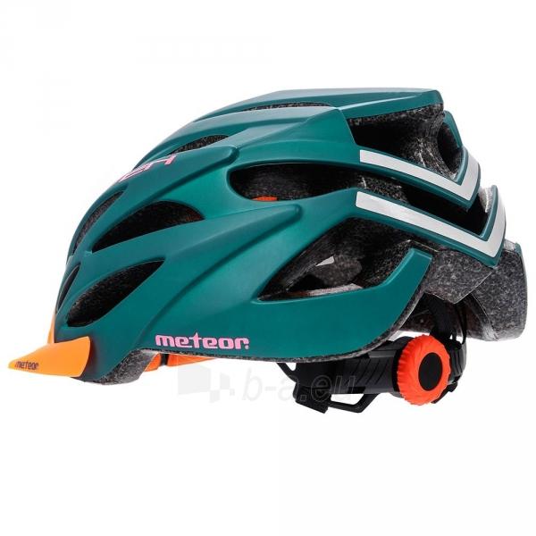 Dviratininko šalmas METEOR MARVEN green/orange Paveikslėlis 4 iš 7 310820182754