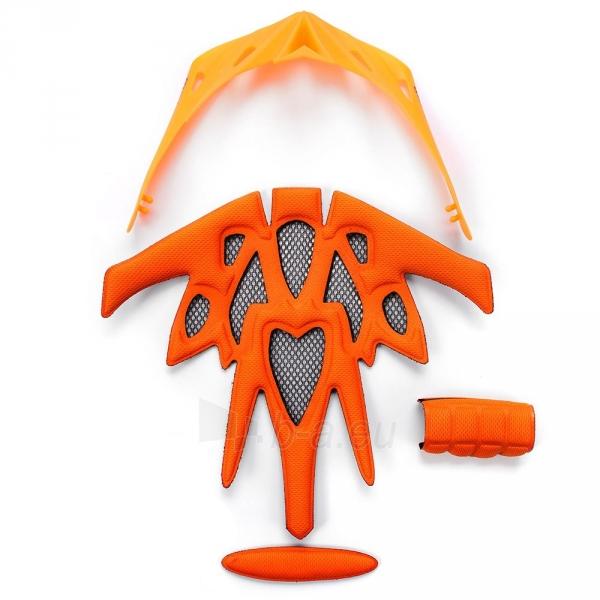 Dviratininko šalmas METEOR MARVEN green/orange Paveikslėlis 6 iš 7 310820182754