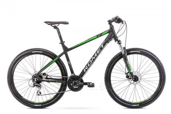 Dviratis Romet Rambler 27.5 R7.2 2020 black-green M(17) Paveikslėlis 1 iš 1 310820201717