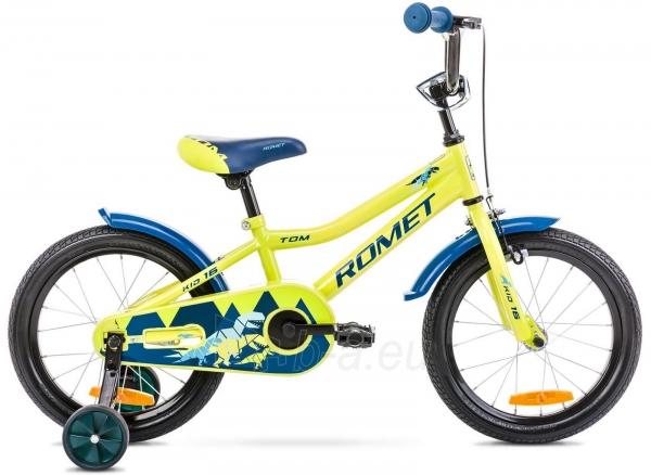 Velosipēds Romet Tom 16 2021 green-blue Paveikslėlis 1 iš 1 310820250836