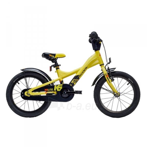 Velosipēds Scool XXlite alloy 1 speed- yellow/black matt 16 Paveikslėlis 1 iš 1 310820163265