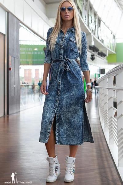 Džinsinė suknelė Gentry Paveikslėlis 1 iš 5 310820046057