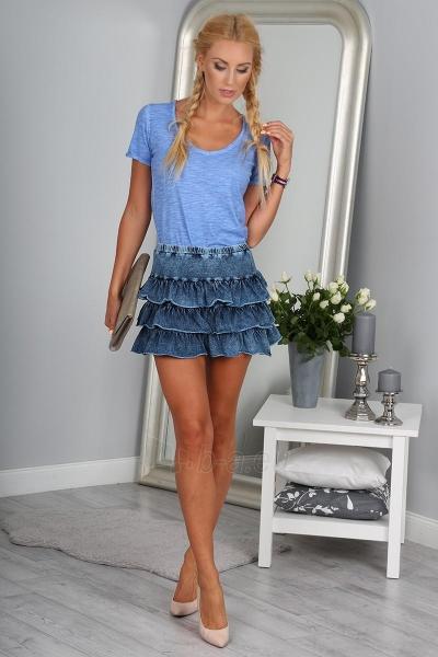 Džinsinis sijonas Charity (mėlynos spalvos) Paveikslėlis 1 iš 4 310820045512