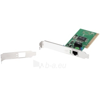 Edimax 32-bit Gigabit LAN Card, RJ45, additional low profile bracket incl. Paveikslėlis 1 iš 2 250255070033