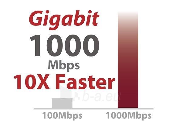 Edimax 5x 10/100/1000Mbps Switch, opt. power supply via USB cable (incl.) Paveikslėlis 5 iš 10 250257501255