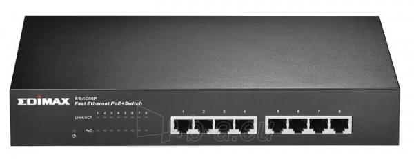 Edimax 8x 10/100 PoE+ Switch, 802.3at/af, 150W budget (30W/port) Paveikslėlis 1 iš 4 250257501158