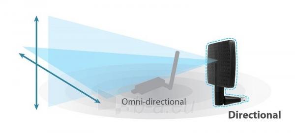 Edimax AC600 Dual Band 802.11ac USB adapter, 2,4/5GHz, 5/7dBi direction. antenna Paveikslėlis 7 iš 9 250257100322