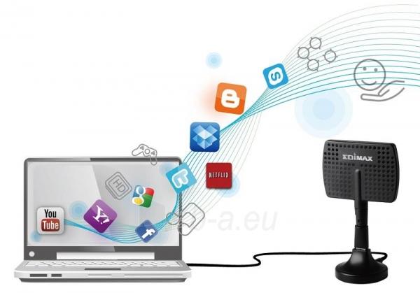 Edimax AC600 Dual Band 802.11ac USB adapter, 2,4/5GHz, 5/7dBi direction. antenna Paveikslėlis 8 iš 9 250257100322