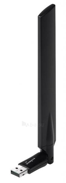 Edimax AC600 Dual Band 802.11ac USB adapter, 2,4GHz+5GHz, 4/6dBi antenna craddle Paveikslėlis 1 iš 7 250257100323
