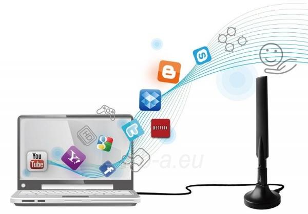 Edimax AC600 Dual Band 802.11ac USB adapter, 2,4GHz+5GHz, 4/6dBi antenna craddle Paveikslėlis 6 iš 7 250257100323