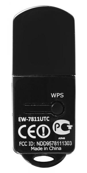 Edimax AC600 Dual Band 802.11ac USB tiny adapter, 2,4+5GHz, HW WPS Paveikslėlis 6 iš 12 250257100325