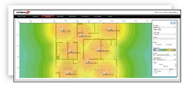 Edimax CAP300 PoE Access Point 802.11b/g/n, 2T2R, 28dBm, Ceiling-Mount, 802.3af Paveikslėlis 3 iš 11 250257100615