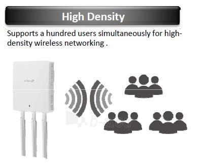 Edimax Long Range AC1750 802.11ac 3x3 Dual band wall mount PoE AP, 2x LAN Gbit Paveikslėlis 6 iš 11 250257100331