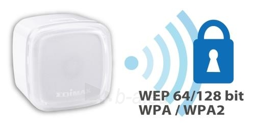 Edimax N300 Smart WiFi Extender/Repeater with EdiRange App, LED Paveikslėlis 3 iš 10 250257100332