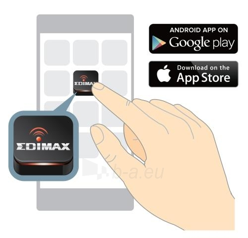 Edimax N300 Smart WiFi Extender/Repeater with EdiRange App, LED Paveikslėlis 2 iš 10 250257100332