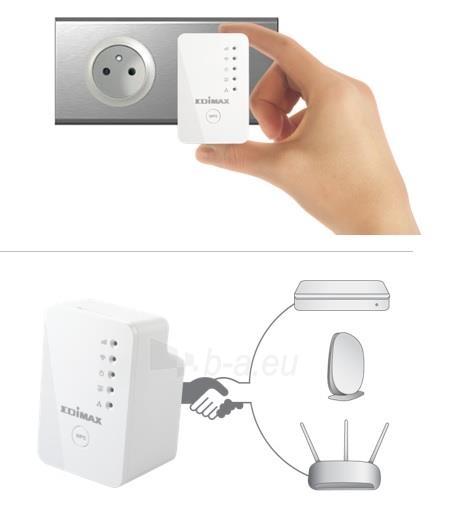 Edimax N300 Universal WiFi Extender/Repeater MINI Paveikslėlis 3 iš 7 250257100333