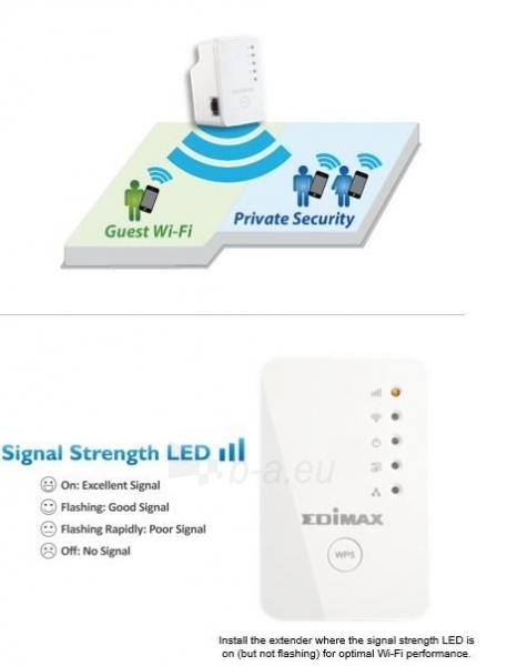 Edimax N300 Universal WiFi Extender/Repeater MINI Paveikslėlis 6 iš 7 250257100333