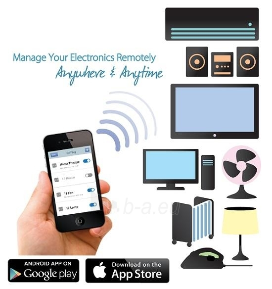 Edimax Wireless Remote Control Smart Plug Switch Paveikslėlis 6 iš 8 250257600889