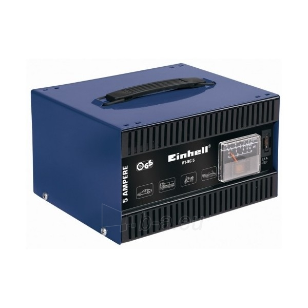 Einhell BT-BC 5 Battery Charger 3.5or 5A 12V Paveikslėlis 1 iš 3 250333000095