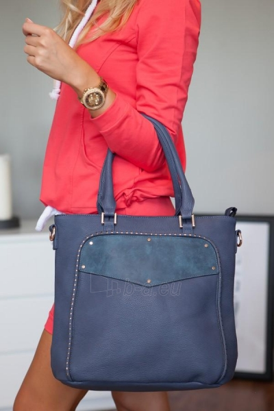 Eko-odos rankinė Kim (mėlynos spalvos) Paveikslėlis 1 iš 4 310820032755