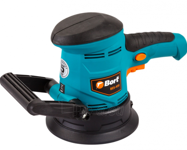 Ekscentrinis šlifuoklis BORT BES-450, 450W, 125mm Paveikslėlis 2 iš 7 310820241026
