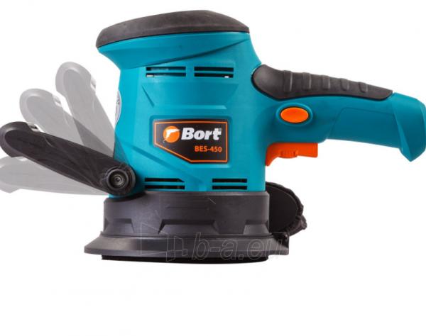 Ekscentrinis šlifuoklis BORT BES-450, 450W, 125mm Paveikslėlis 5 iš 7 310820241026