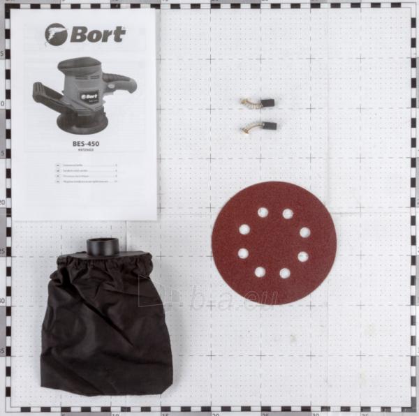 Ekscentrinis šlifuoklis BORT BES-450, 450W, 125mm Paveikslėlis 6 iš 7 310820241026