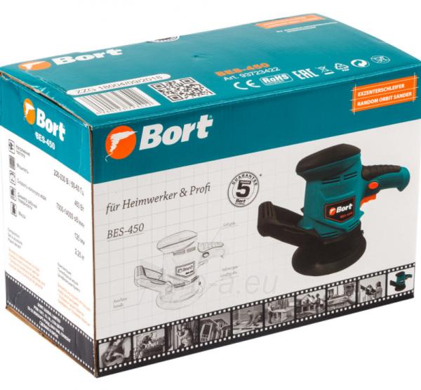 Ekscentrinis šlifuoklis BORT BES-450, 450W, 125mm Paveikslėlis 7 iš 7 310820241026