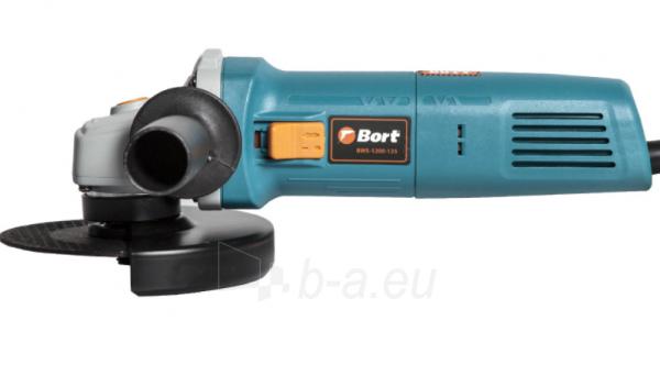 Elektrinis kampinis šlifuoklis BORT BWS-1200-125, 1,2kW Paveikslėlis 3 iš 5 310820241031