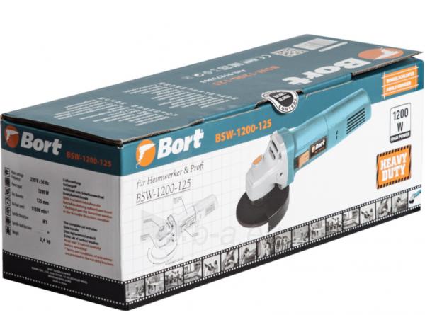 Elektrinis kampinis šlifuoklis BORT BWS-1200-125, 1,2kW Paveikslėlis 4 iš 5 310820241031