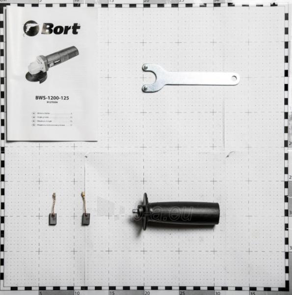 Elektrinis kampinis šlifuoklis BORT BWS-1200-125, 1,2kW Paveikslėlis 5 iš 5 310820241031