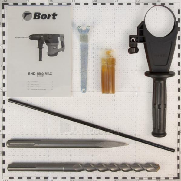 Elektrinis perforatorius BORT BHD-1500-MAX, 9J Paveikslėlis 4 iš 10 310820241675