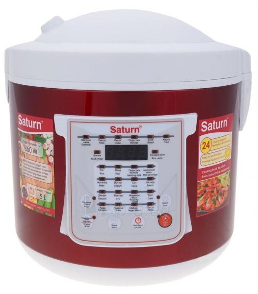 Elektrinis puodas Multicooker Saturn ST-MC9208 red Paveikslėlis 1 iš 10 310820162753