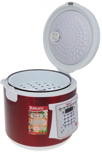 Elektrinis puodas Multicooker Saturn ST-MC9208 red Paveikslėlis 7 iš 10 310820162753