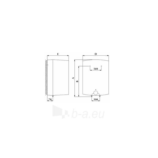 Elektrinis vandens šildytuvas Gorenje GT 15 O Paveikslėlis 2 iš 2 271410000275
