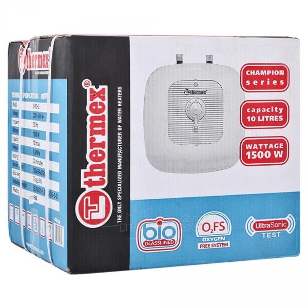 Elektrinis vandens šildytuvas Thermex H 10-O mažas, 1,5 kW Paveikslėlis 5 iš 5 310820253716