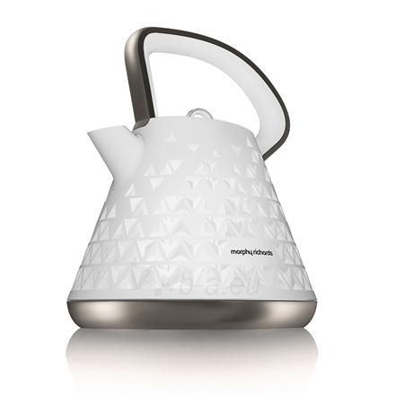 Electric kettle Morphy richards Prism Pyramid Standard kettle, Plastic, White, 2200 W, 1.5 L, 360° rotational base Paveikslėlis 1 iš 7 310820162239
