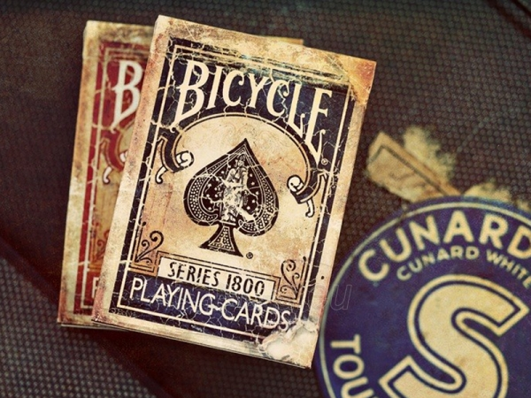 Ellusionist 1800 Vintage Blue Bicycle kortos Paveikslėlis 1 iš 14 310820125321