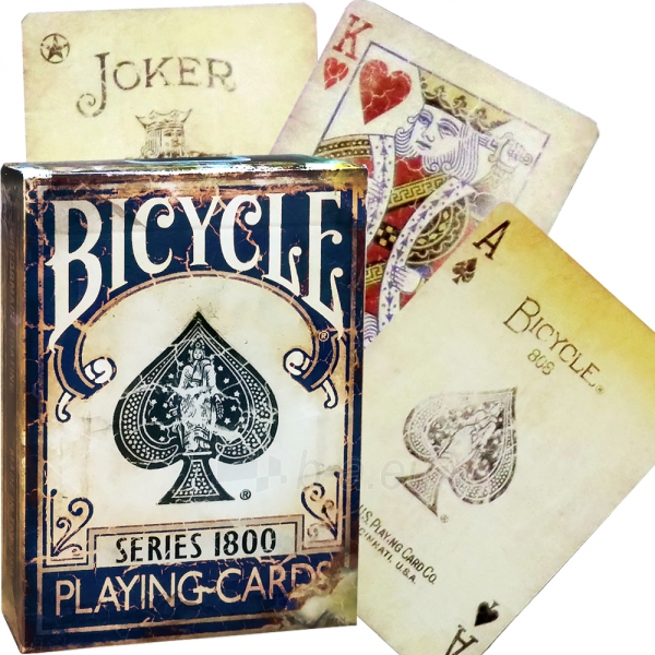 Ellusionist 1800 Vintage Blue Bicycle kortos Paveikslėlis 4 iš 14 310820125321