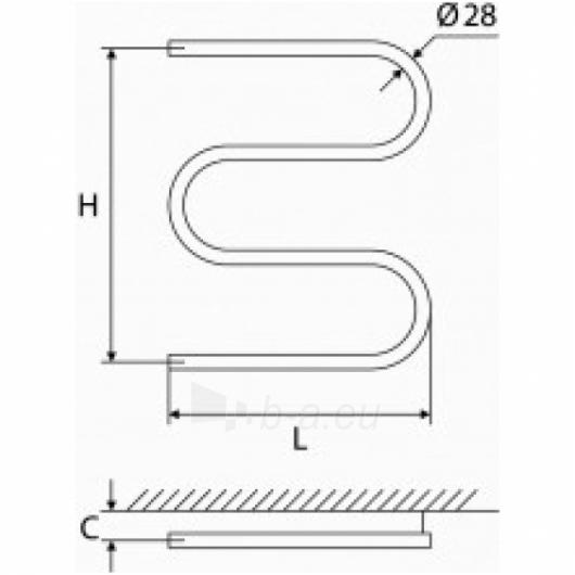 Elonika žalvarinis vandeninis gyvatukas EŽ 400/460/470 S Paveikslėlis 1 iš 4 270651000390